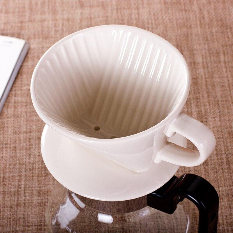 Caja de Filtro de café de cerámica, herramientas de Barista reutilizables sencillas,...