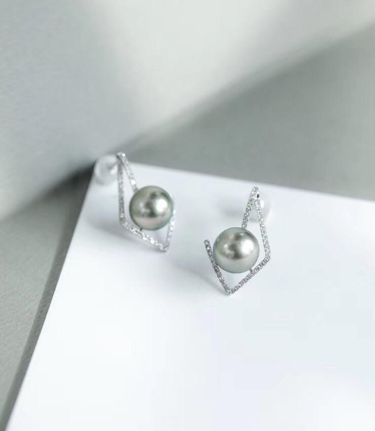 Pendientes de plata de ley 925 de estilo moderno, accesorios de piezas de joyería para montaje en Base de perlas, cuentas de ágata y Jade