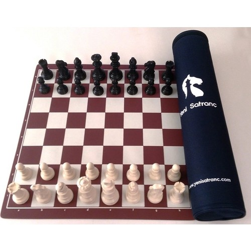 New Chess 94mm (Shah Length) The Team of Tournament Bag You Can Curl Easy portable chess set board pieces luxury  figures