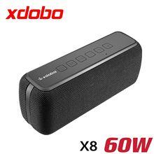 XDOBO X8 60 Вт bluetooth колонки портативный сабвуфер беспроводной IPX5 Водонепроницаемый TWS 15H воспроизведение голоса помощник Экстра Бас система