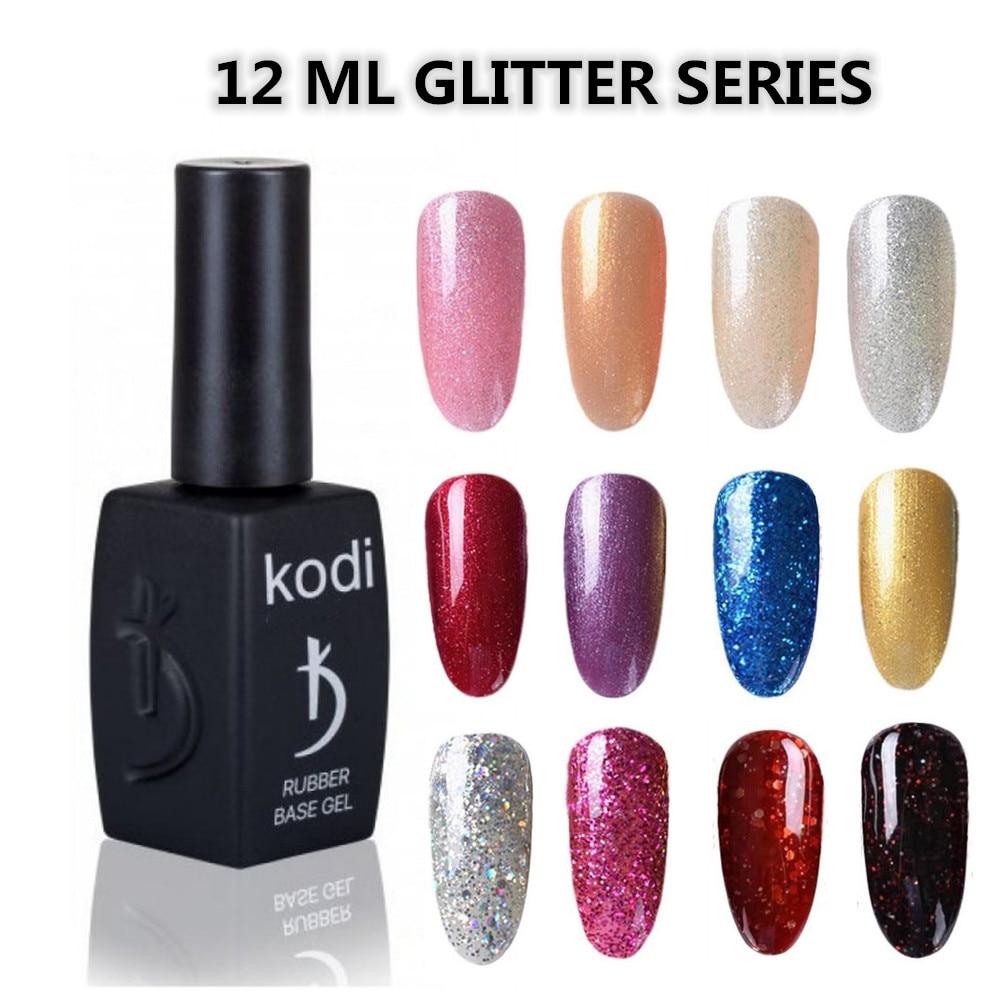 KODI GEL Nagellack 12ML Vernis Semi Permanent Hybrid Lack Gel polish uv Farbe Gel Maniküre Primer Top Mantel glitter Nail art