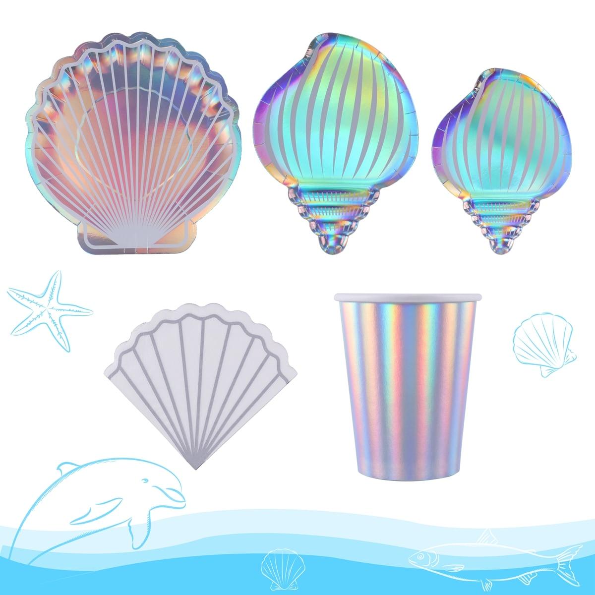 Одноразовая посуда «русалка» для вечеринки