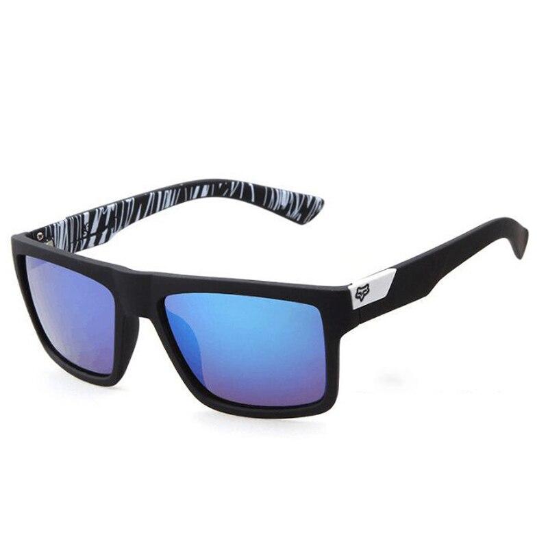 FOX Sunglasses Men Women Square Sun Glasses Brand Designer Vintage Retro Eyewear UV400 Driving Goggl