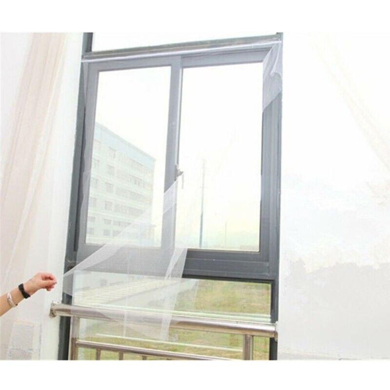 Mosquitera protectora de malla para puertas y ventanas, cortina de pantalla antimosquitos...