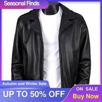 2021 black genuine leather jacket men motorcycle style plus size 4xl real natural cowhide autumn short bikers coat