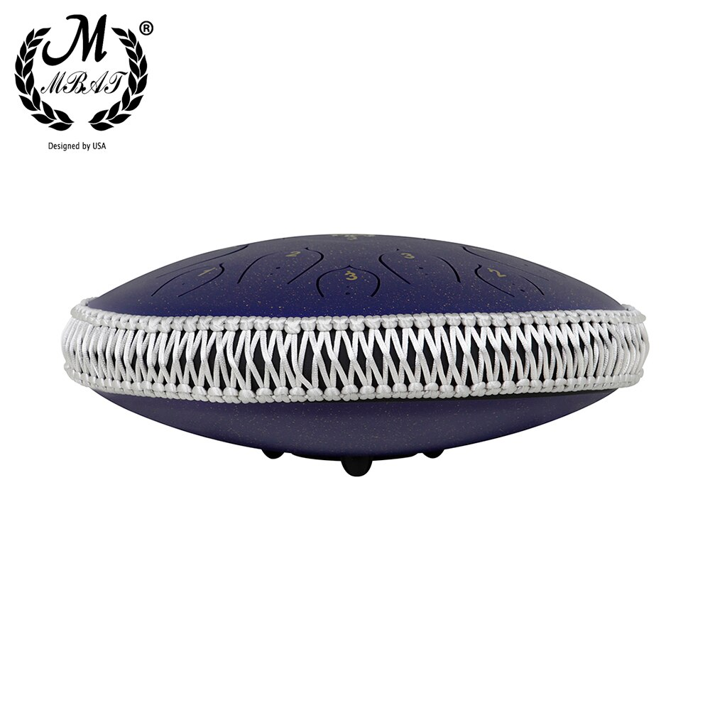 M MBAT Purple Starry Sky Steel Tongue Drum 14 Inch 15 Tone Tambourine Percussion Instrument Yoga Meditation Ethereal Hand Drum enlarge