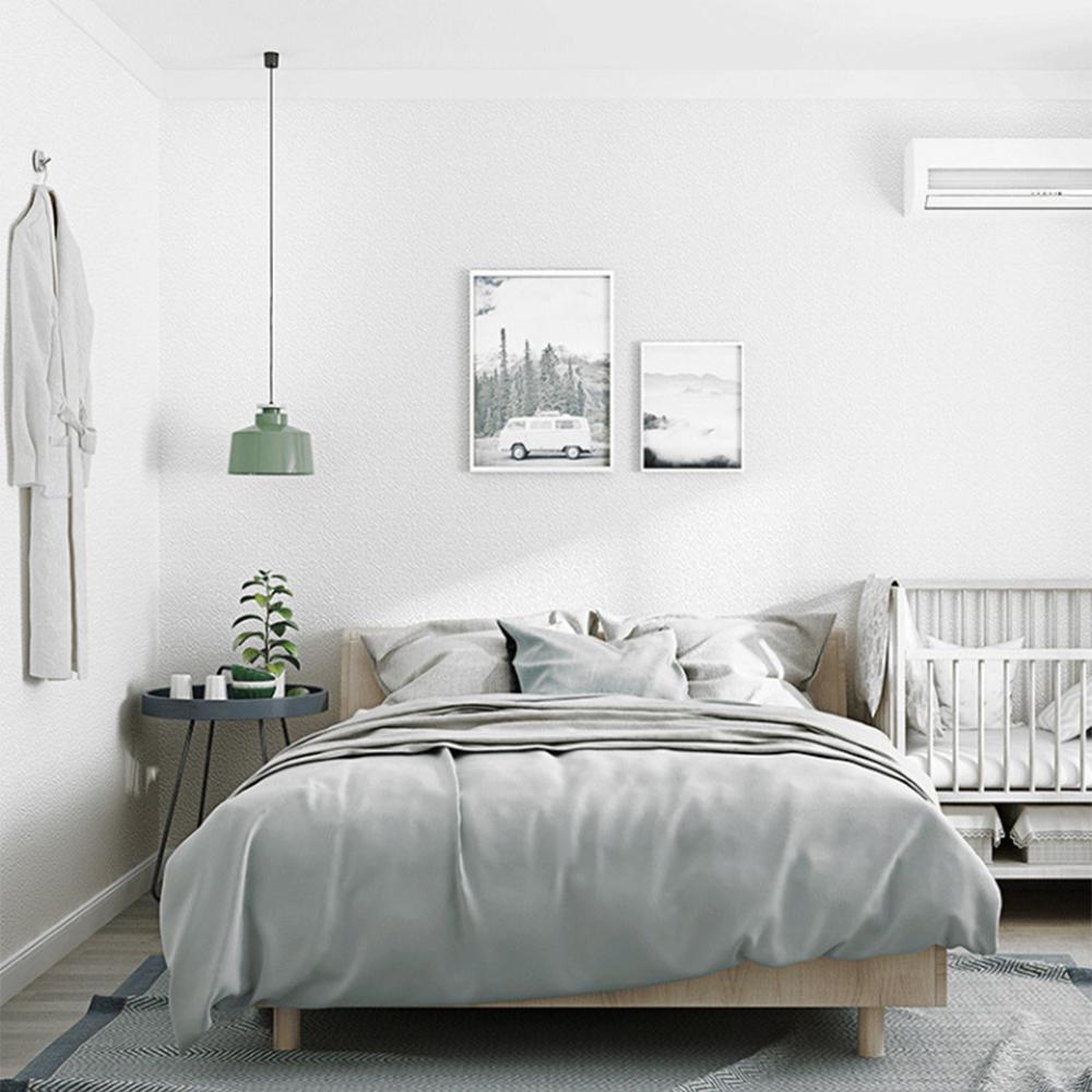 ورق حائط أبيض نقي ثلاثي الأبعاد عصري ورق حائط عادي غير منسوج لفائف حائط لغرفة النوم وغرفة المعيشة