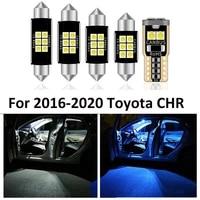 10 pcs car white interior led light bulb package for toyota chr c hr 2016 2017 2018 2019 2020 map dome license lamp car light