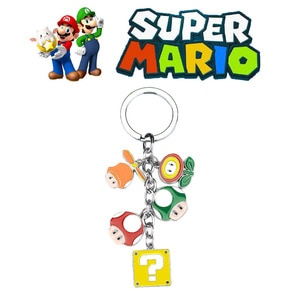 Super Mario Cartoon Keychain Doll Keyring Anime Character Metal Key Chain for Boys and Girls Jewelry Accessories Bag Pendant