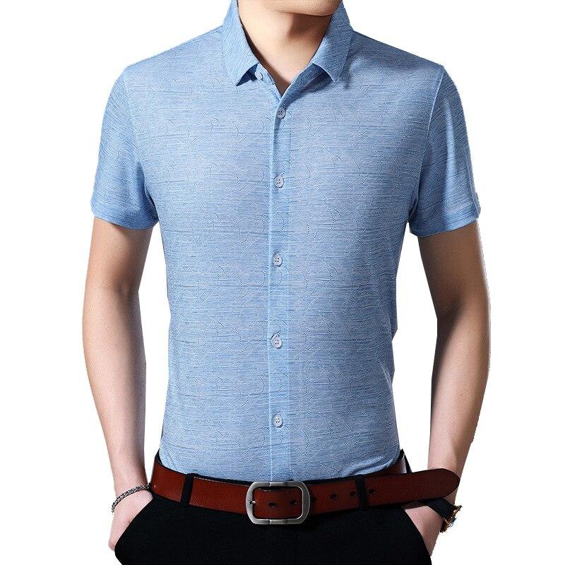 VISADA JAUNA 2020, moda Primavera Verano, camisas para hombre, Camisa ajustada de manga corta, ropa de hombre, Camisa informal de negocios Masculina