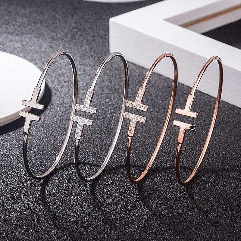 Premium Tiffon925 sterling silver bracelet European classical style,Fashionable simplebracelet luxur