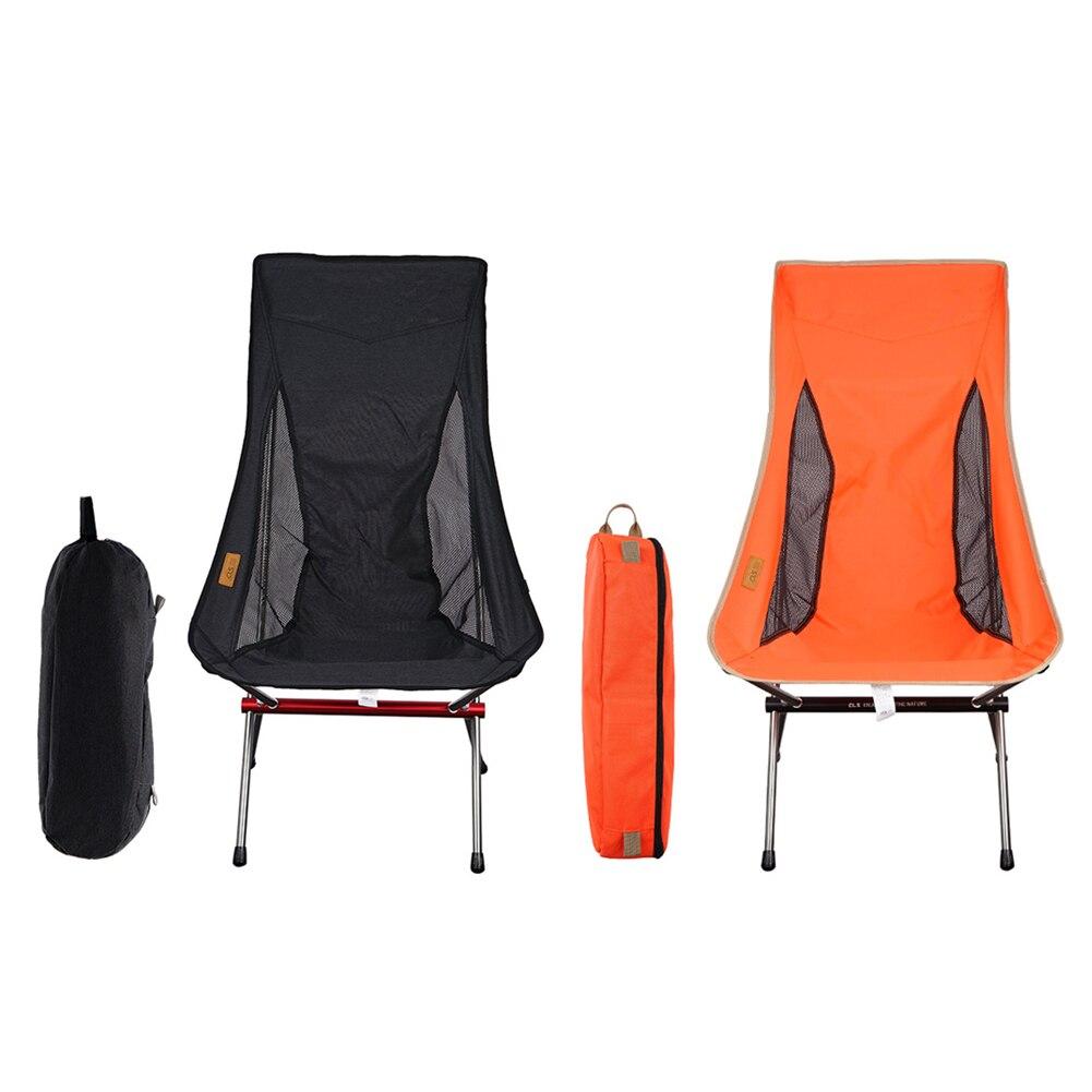 في الهواء الطلق التخييم الصيد شاطئ مسند الظهر كرسي خفيفة للغاية سبائك الألومنيوم للطي القمر كرسي مقاومة للاهتراء المحمولة كرسي منزلي