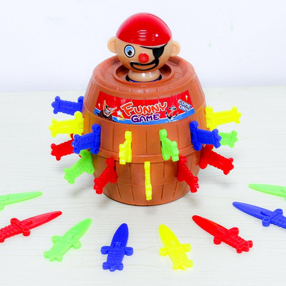 Enfants jouets drôles Pirate baril jeu jouet enfants drôle chanceux poignard Pop Up jouet main-oeil Coordination développement jouet