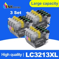 INKARENA 3Set LC 3213 XL Full Ink Cartridge For Brother LC3213 DCP-J772DW DCP-J774DW MFC-J890DW MFC-J895DW Printers 4 Color