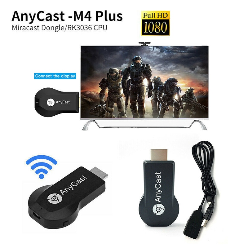 AnyCast M4 Plus WiFi Receiver Airplay Display Miracast HDMI-compatible Dongle TV DLNA 1080P