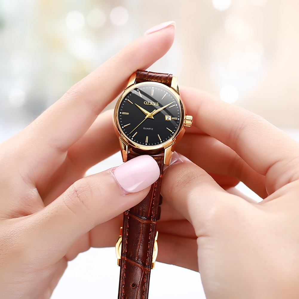 Women's quartz wristwatch casual style waterproof with calendar luminous hands fashion elegant female clock enlarge