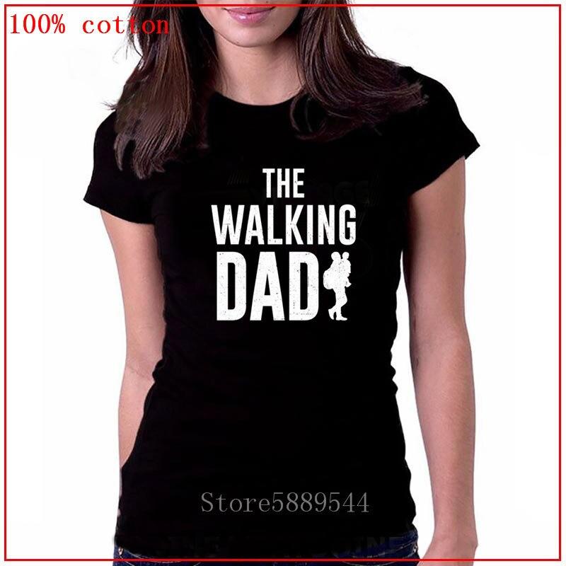 Streetwear engraçado impressão camiseta roupas femininas hip hop homme t camisa topos tees diky ticker o pai andando tshirt morto c85