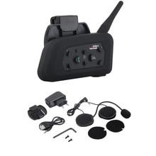 US/ue Plug V6 casque Interphone 6 coureurs 1200M moto Bluetooth Interphone casque talkie-walkie casque BT Interphone