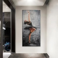 beautiful ballerina art portrait art painting wall canvas art poster and print wall art picture for living room home decor