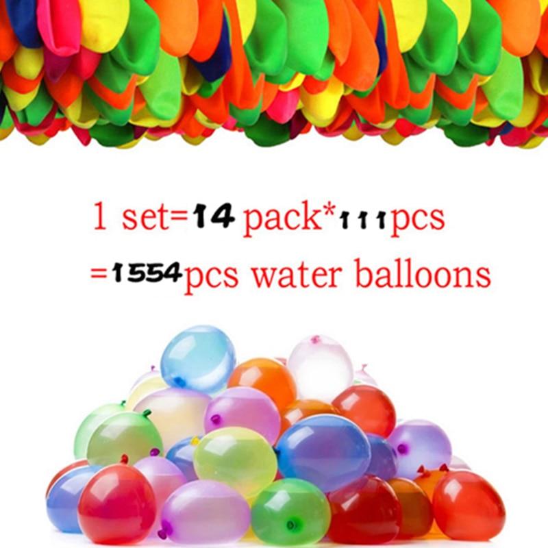 1554 шт. воздушные шары с водяными бомбами, воздушные шары с водяными бомбами для летних игр, воздушные шары для бассейна, детский летний подар...