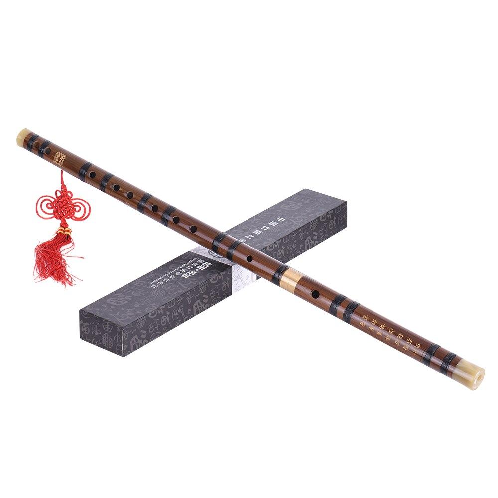 Flauta de bambú amargo enchufable Dizi tradicional hecho a mano instrumento de viento de madera Musical chino clave de D para el rendimiento de principiante