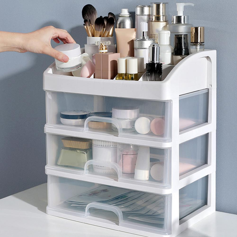 2/3 Layer Makeup Brush Drawer Storage Box Jewelry Case Sundries Holder Organizer cosmetics or jewelry keeping desktop clean tidy