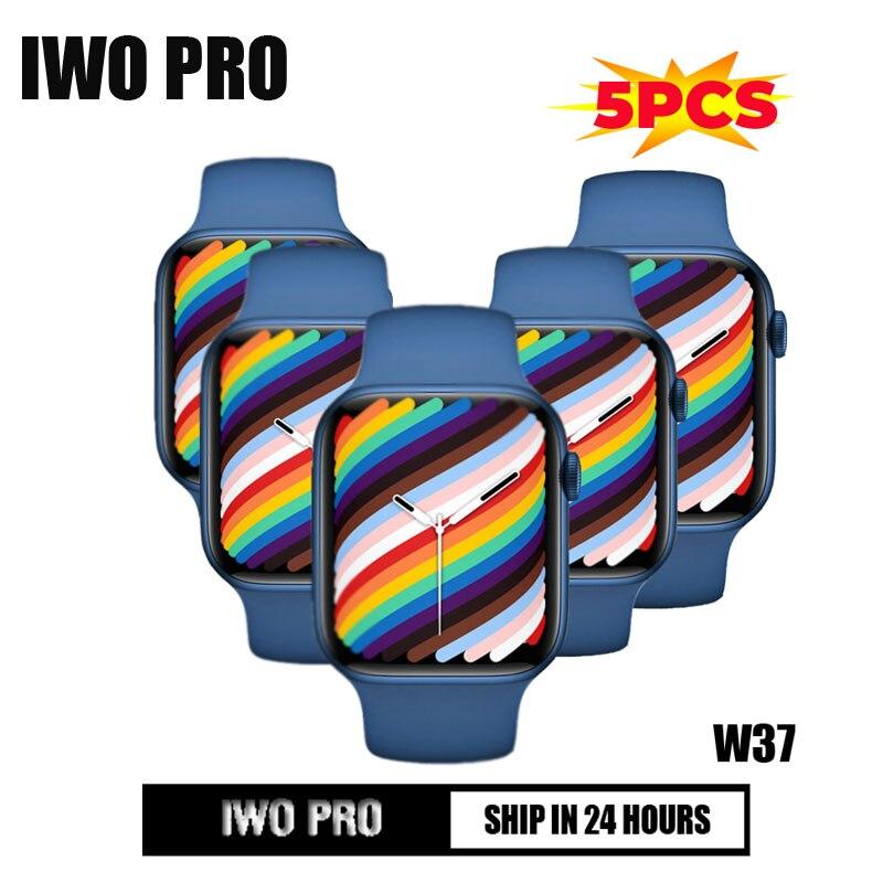 5PSC IWO PRO W37 سلسلة 7 2021 جديد ساعة ذكية بلوتوث دعوة 1.75 بوصة شاشة سبليت الرياضة Smartwatch لهواوي شاومي