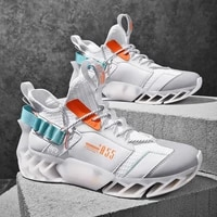 trendy men blade running shoes breathable mesh sneakers antiskid damping outsole sports shoes training jogging shoes zapatillas