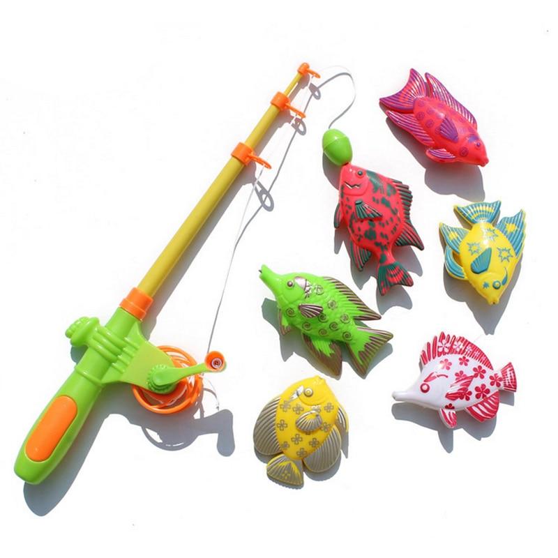 Детские развивающие игрушки, Магнитная рыбалка для игр для мальчиков и девочек, летние пляжные плавательные бассейны для ванной