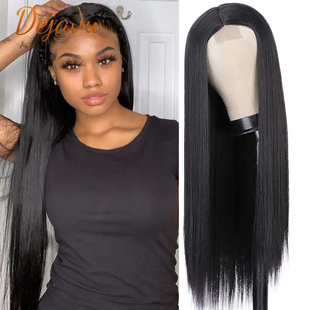 Straight Lace Front Human Hair Wigs Long Black Natural Color Wig Virgin Remy Human Hair Wig Pre Plucked Hair Lace Closure Wig