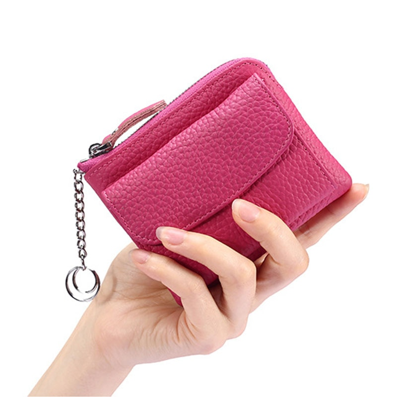 Women Wallets Small Fashion First Layer Leather Purse Lady Card Holder Mini Money Bag Coin Purse