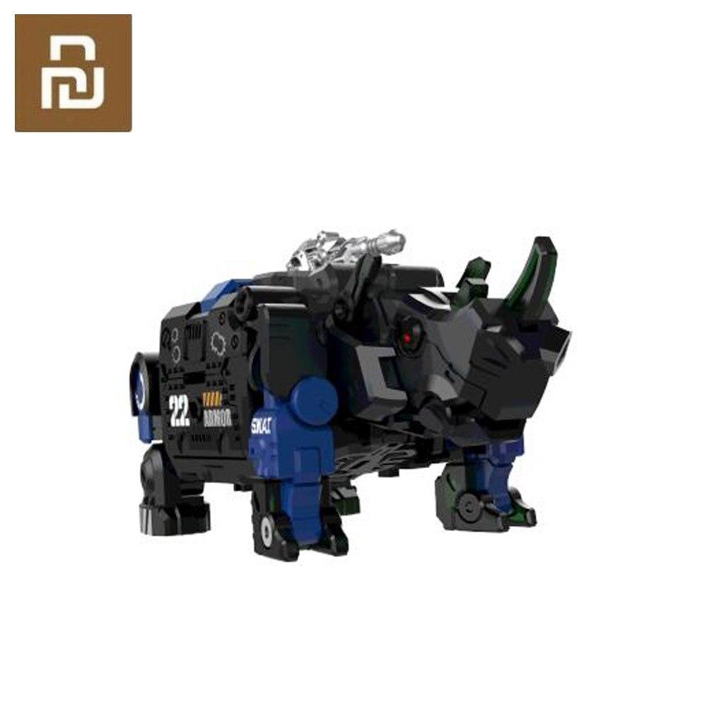 Juguete transformable serie bestia armadura azul 22 movible, feroz policía especial ataque sorpresa Escritorio