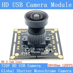Plug Play HD 2.1mm Lens 120FPS Monochrome USB Camera Module Global Shutter High Speed UVC OTG Webcam For Android Linux Windows