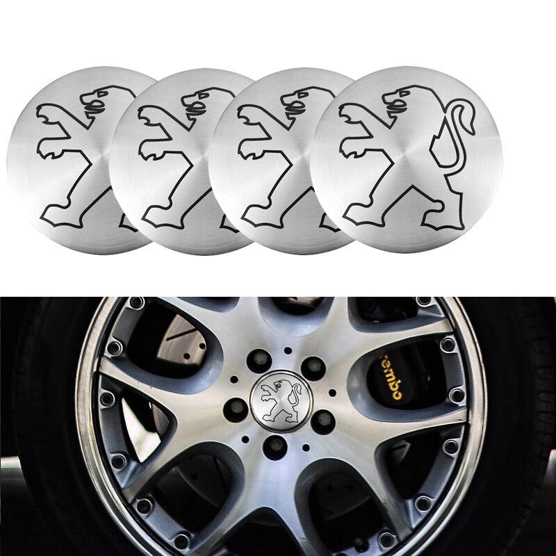 4 шт. 56 мм центральный колпак на колесо автомобиля концентратор Эмблемы наклейки для Peugeot 206 307 308 3008 207 208 407 508 2008 5008 107 106 205 4008 301 Наклейки на автомобиль      АлиЭкспресс