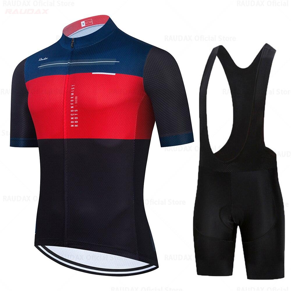 Conjunto De ropa De Ciclismo para hombre, pantalones cortos con pechera De...