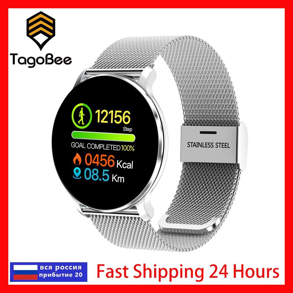 TagoBee 2021 الذكية ووتش رسالة مكالمة تذكير للماء الرجال Smartwatch رصد معدل ضربات القلب النساء اللياقة البدنية تعقب الروبوت iOS