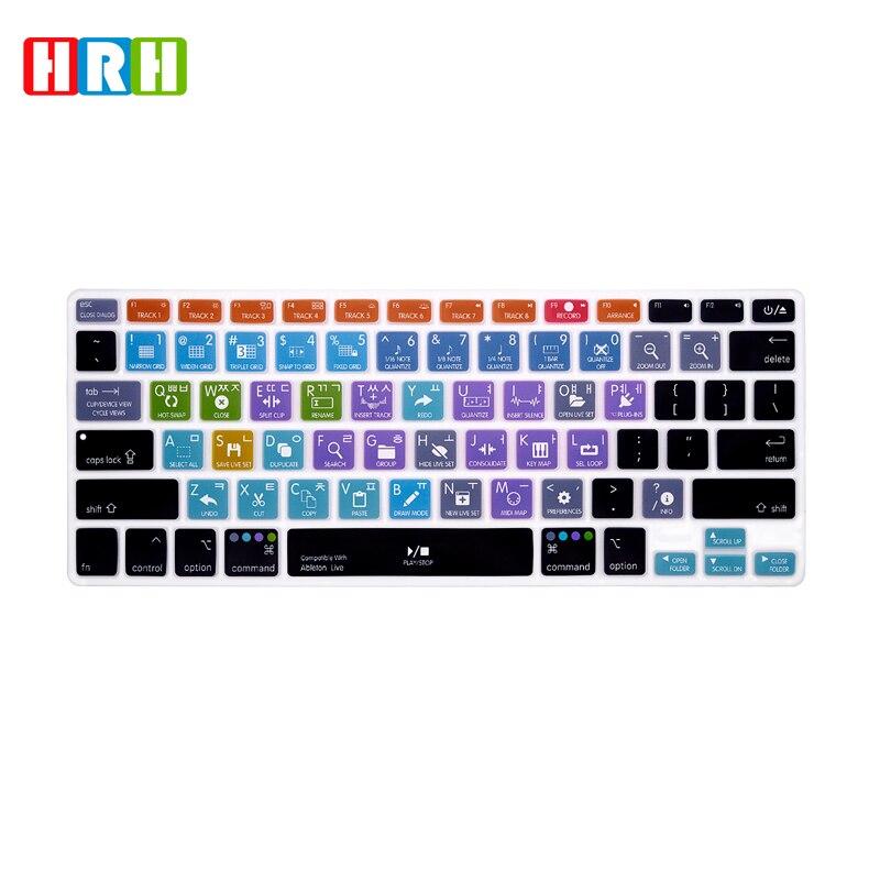 HRH Ableton Live Protector de cubierta de teclado de silicona Hotkey Shortcuts...