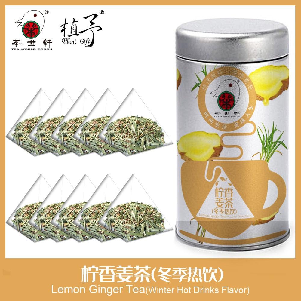 3g * 10 Uds té de jengibre Limón (sabor de bebidas calientes de invierno) Máscara de cuidado de la piel DIY materias primas bolsa de té Natural belleza desintoxicación té Anti acné