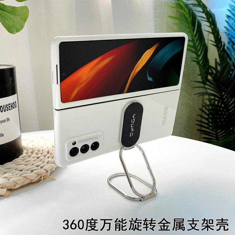 لسامسونج غالاكسي Z أضعاف 2 5G متعددة الوظائف قوس معدني فاخر قضية الهاتف المحمول لسامسونج غالاكسي W21 5G الحالات الهاتف المحمول