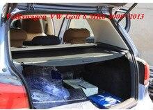 Car Rear Trunk Security Shield Cargo Screen Shield shade Cover For Volkswagen VW Golf 6 MK6 2008-2013 (Black, beige)