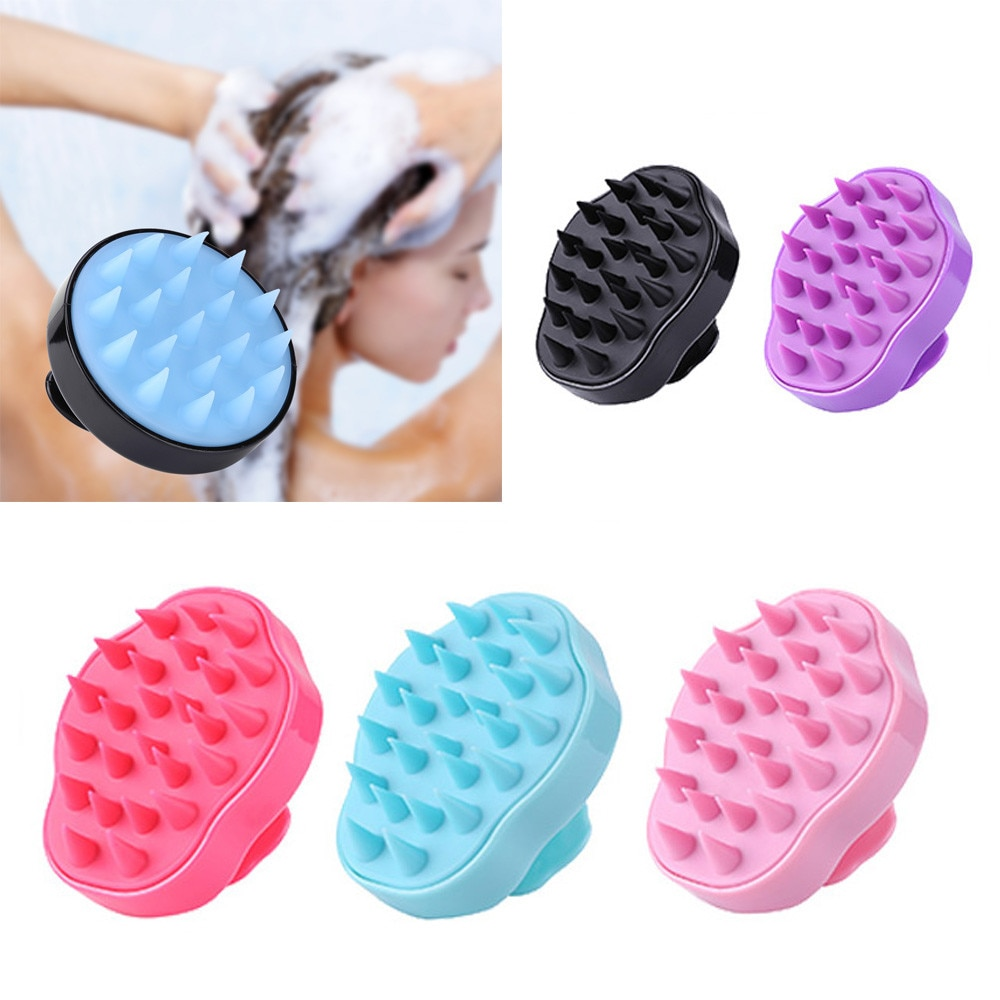 Silicone Head Body Scalp Massage Brush Comb Shampoo Hair Washing Comb Shower Brush Bath Spa Slimming