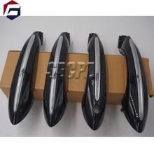 Poignée de porte couleur noire pour BMW   Poignée de porte confortable daccès, pour BMW série 5 F11 520d 520i 523i 525d 528i 530d 51217231931 51217231932 51217231