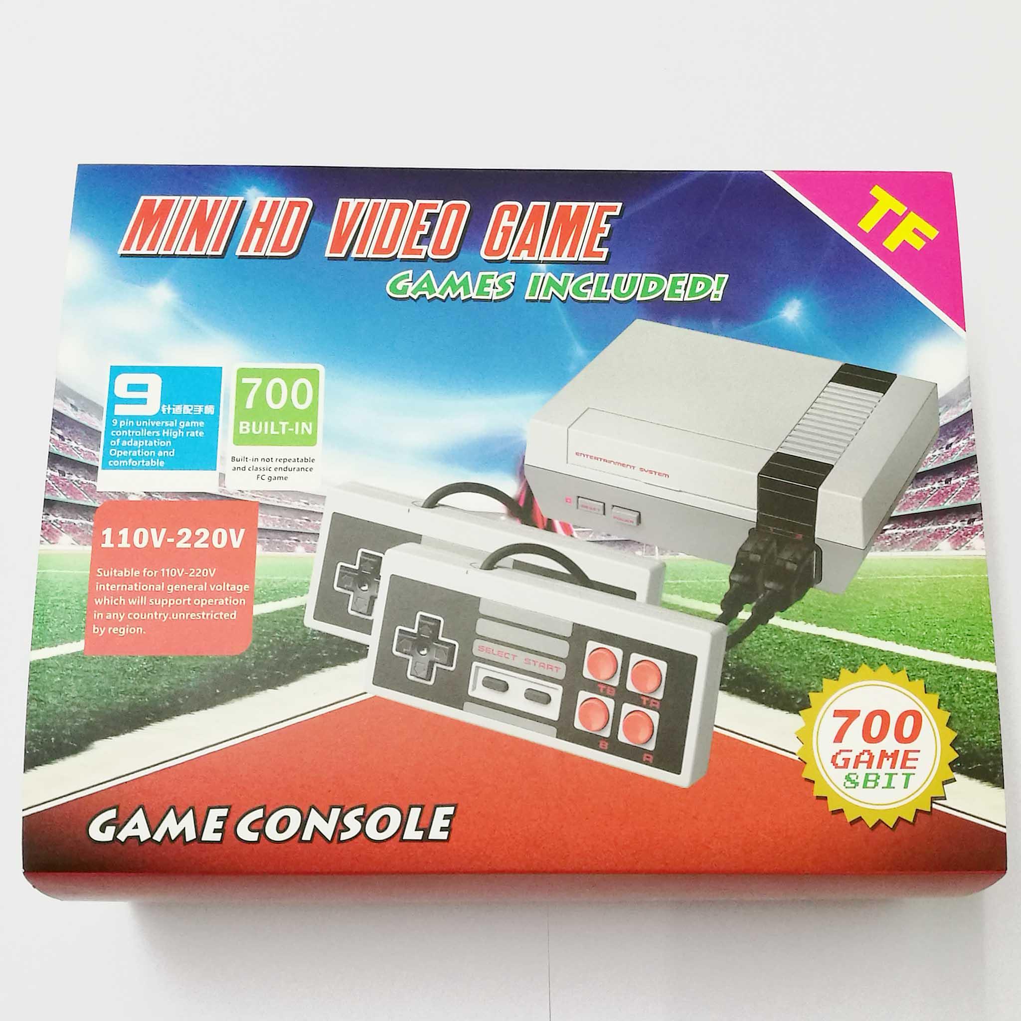 المدمج في 700 ألعاب الفيديو وحدة 8Bit تلفزيون صغير يده ريترو لعبة وحدة التحكم يده ريترو الألعاب لاعب TF بطاقة