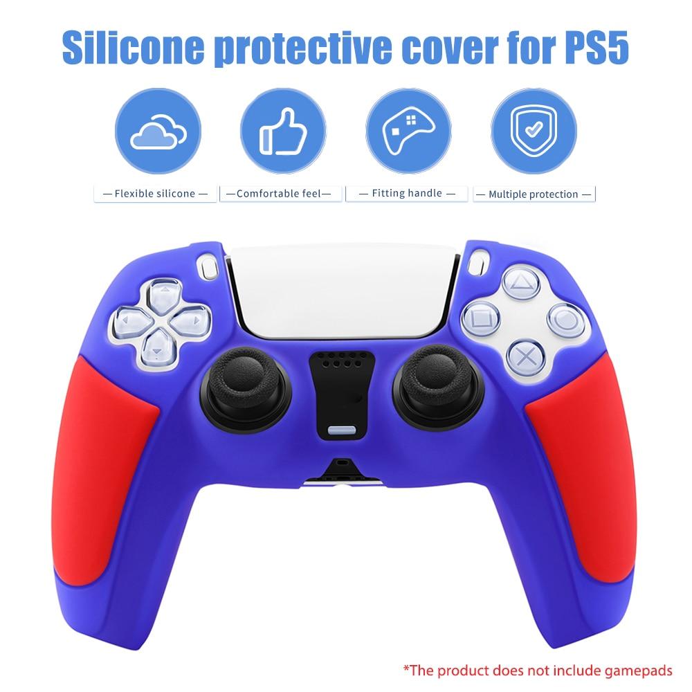 3 цвета силиконовый игровой контроллер Защитный чехол геймпад протектор Анти-шок Игровой консоли ручка Защитная крышка для PS5