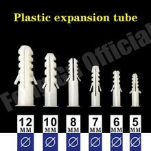 Anclajes de pared de tubo de expansión de plástico, tapones de expansión con tornillo de cabeza Phillips NL28, 5mm-12mm