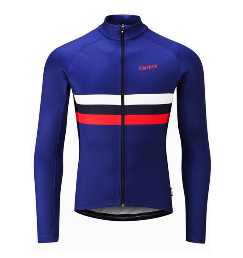 2019 bicicleta ropa de invierno térmico polar manga larga Jersey ciclismo maillot...
