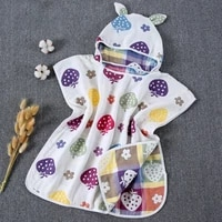 6 layers gauze hooded beach towel cotton baby cape towels soft poncho kids bathing stuff for babies washcloth