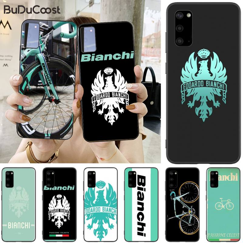 Jomy bianchi bicicleta logotipo negro caso de teléfono para Samsung S5 6 7 8 9 10 S8 S9 S10 más S10E lite S10-5G S20 UITRA plus