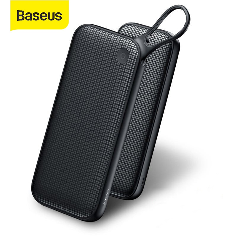Baseus 20000mAh Power Bank Quick Charge 3.0 USB External Battery Powerbank 18W QC 3.0 PD Fast Chagri