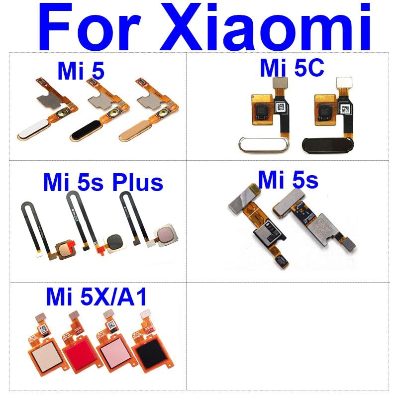 Botón de inicio Sensor Cable flexible para Xiaomi Mi 5 5c 5X...